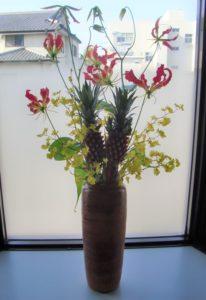 鮮やかな色合いの花々
