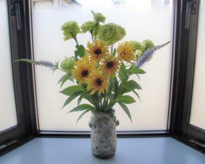患者さんから頂いたお花
